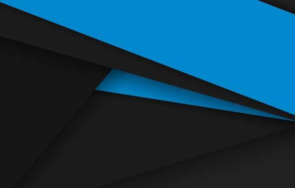 Picture line, blue, black, Android, geometry