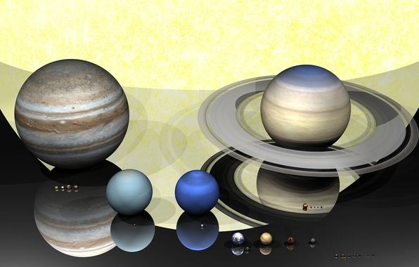 Picture the sun, planet, solar system, figure