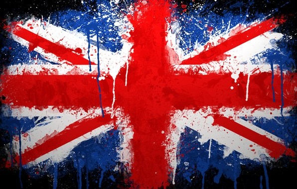 Picture paint, Flag, UK, Union Jack