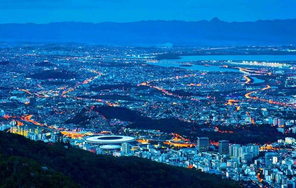 Picture landscape, lights, Brazil, Rio de Janeiro, stadium, Maracanã