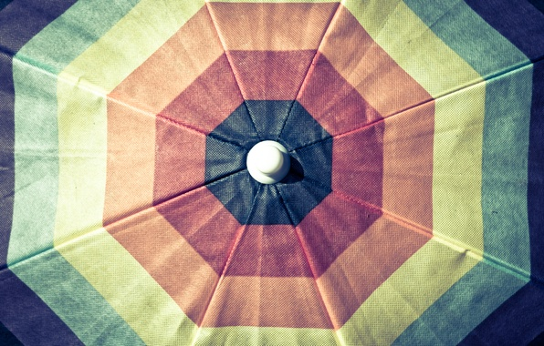 Picture color, orange, blue, yellow, red, green, umbrella