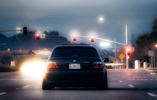 Picture bmw, traffic light, Boomer, seven, e38, 7 series, bumer