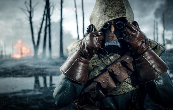 Wallpaper Soldiers, Gas Mask, Electronic Arts, Battlefield
