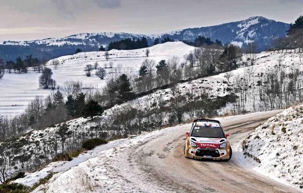 Picture Winter, Auto, Snow, Sport, Machine, Turn, Citroen, Citroen, DS3, WRC, Rally, Rally, Sebastien Loeb, Daniel …