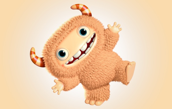 Picture monster, monster, cartoon, character, funny, cute