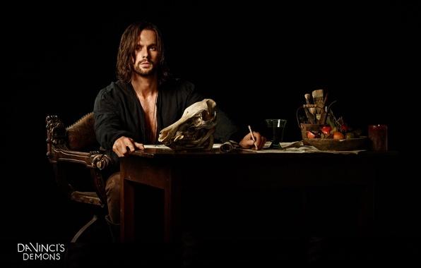 Photo wallpaper fantasy, the series, adventure, drama, Da Vinci's Demons, Da Vinci's Demons, Tom Riley