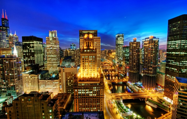 Picture view, home, hdr, America, city