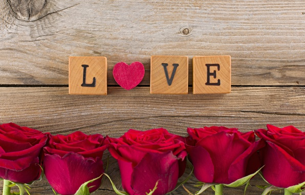 Picture love, flowers, roses, red, love, heart, romantic, Valentine's day, roses
