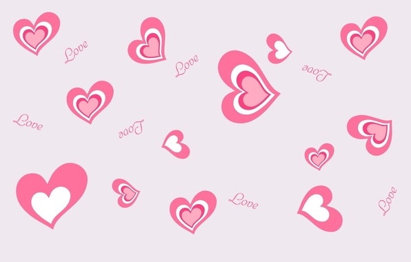 Picture love, the inscription, mood, heart, hearts, love, pink