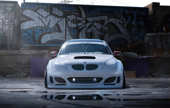 Picture BMW, Car, White, Tuning, Future, by Khyzyl Saleem, Finalreflow