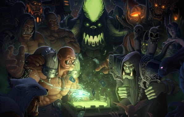 Picture card, World of Warcraft, orcs, wow, fan art, orcs, Fanart, Garrosh Hellscream, Hearthstone, Grommash Hellscream, …