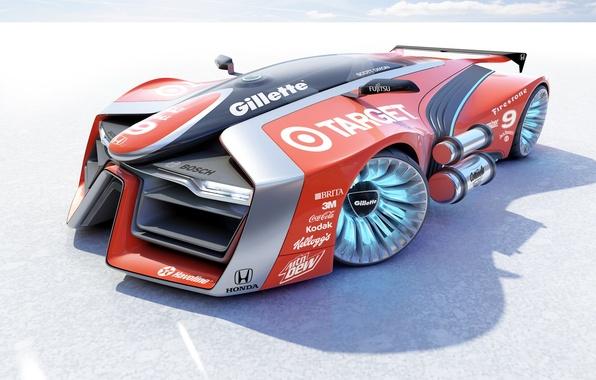 Picture car, concept, honda, render