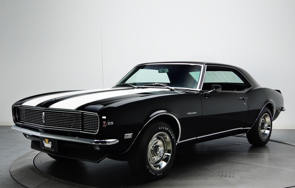 Picture retro, Chevrolet, muscle car, camaro, chevrolet, muscle car, 1968, Camaro, z28