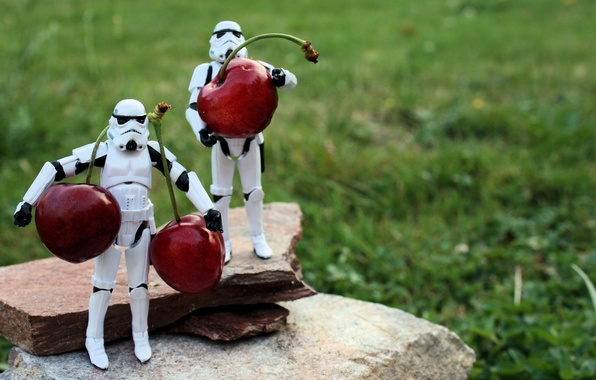 Picture macro, cherry, toys, star wars, lego, cherry, vitamins, LEGO, toys, star war, stormtroopers