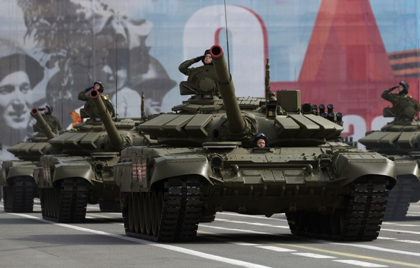 Picture tank, combat, red square, armor, T-72