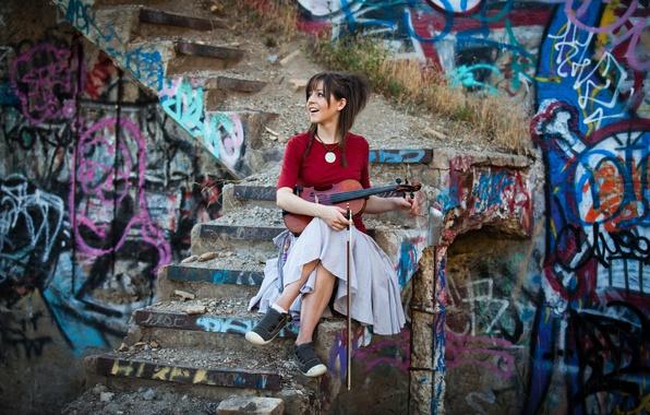 Picture beauty, violin, Lindsey Stirling, Lindsey Stirling, violinist