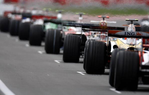 Picture car, wheels, formula 1, grid