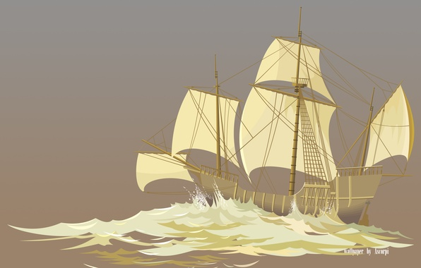 Picture sea, the ocean, ship, sailboat, storm, ship