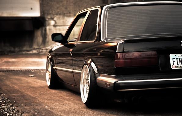 Picture black, BMW, BMW, black, e30, stance, 325si