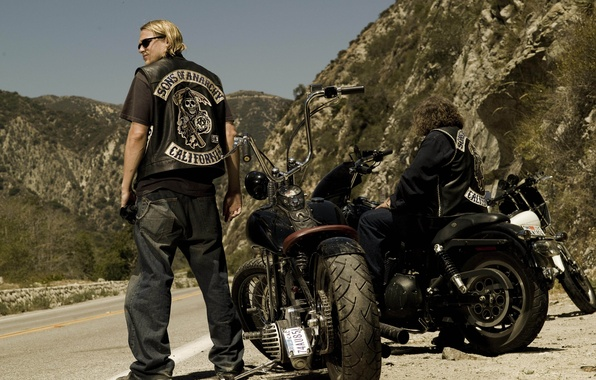 Picture motorcycle, the series, biker, charlie hunnam, sons of anarchy, Charlie Hunnam
