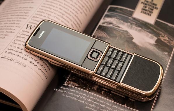 Picture Retro, Phone, Nokia, Nokia 8800, Nokia, Arte, Rose Gold