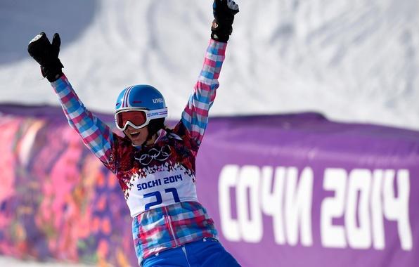 Picture Snowboard, Russia, Sochi 2014, The XXII Winter Olympic Games, parallel giant slalom, Alena Zavarzina