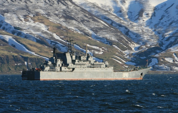 """Picture large, Russia, landing ship, project 775, """"Oslabya"""""""
