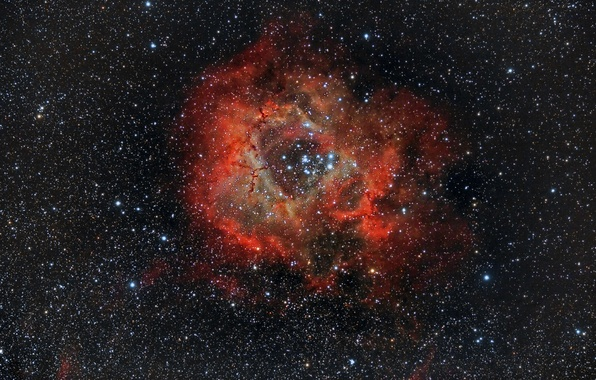 Picture Nebula, Outlet, Unicorn, NGC 2237, in the constellation, Rosette