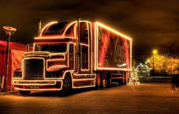 Picture new year, Christmas, coca cola, Coca Cola, Christmas truck, christmas truck