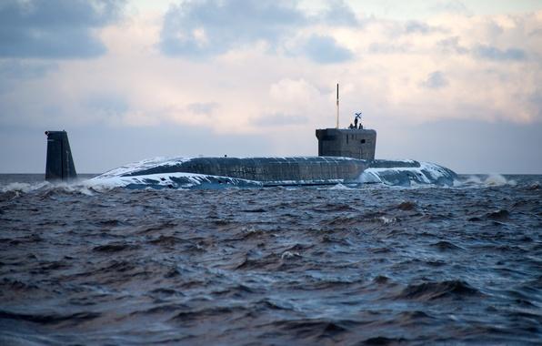 Picture sea, Russia, submarine, project 955