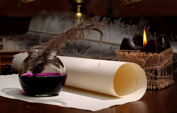 wallpaper paper pen candle ink scroll images for
