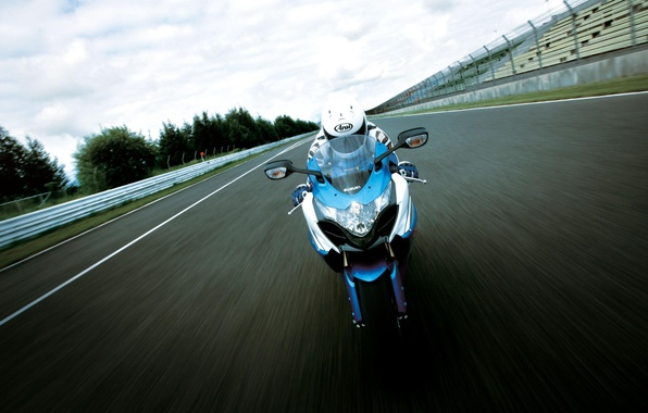 Picture road, road, speed, Moto, helmet, driver, bike