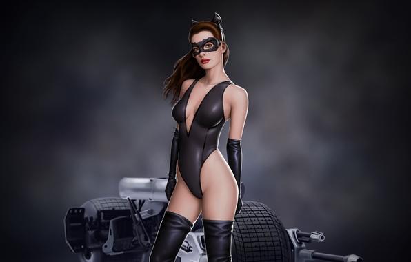 Picture look, batman, mask, art, art, catwoman, anne hathaway