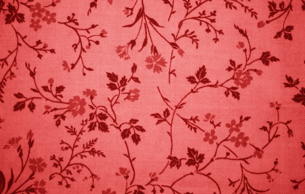 Picture red, texture, fabric, ornament, figure.flowers