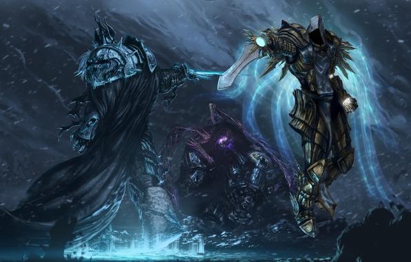 Wallpaper Starcraft Diablo Warcraft Arthas Jim Raynor Sarah Kerrigan Tyrael Heroes Of The Storm Archangel Justice Images For Desktop