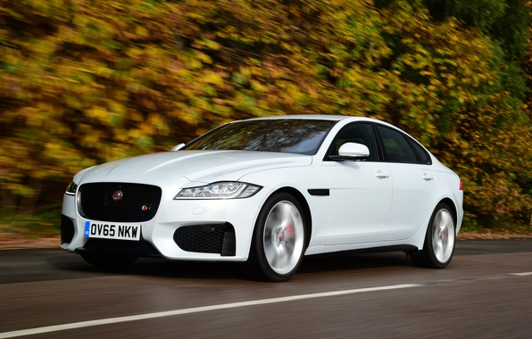 Picture road, auto, speed, Jaguar, Jaguar, XF S