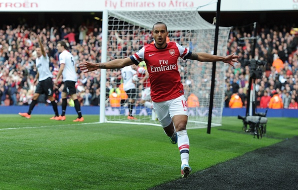 Picture background, gate, Arsenal, Arsenal, Football Club, The Gunners, Theo Walcott, The gunners, Football club, Theo …