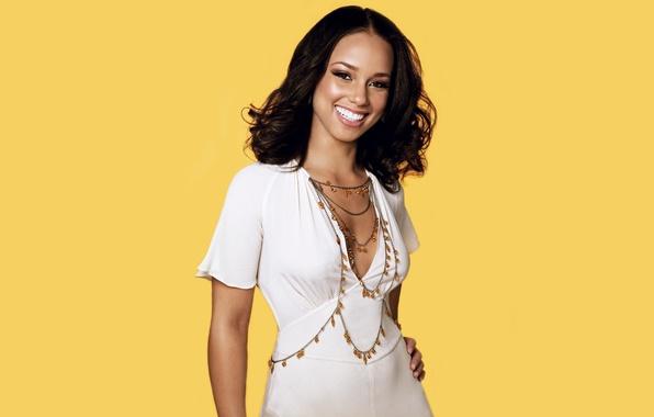 Picture smile, white, actress, singer, Alicia Keys, Alicia'augello-Cook, Alicia, Augello Cook, Alicia KIS
