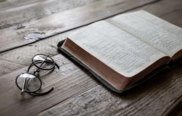 Picture background, glasses, book