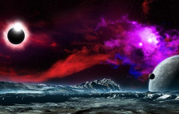 Picture space, stars, surface, nebula, the universe, planet, nebula