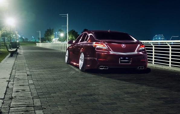 Picture night, the city, black, Honda, Accord, Honda, Acura, Acura, TSX