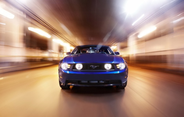 Picture light, speed, mustang, ford, blue