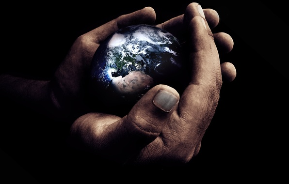 Picture earth, the world, planet, hands