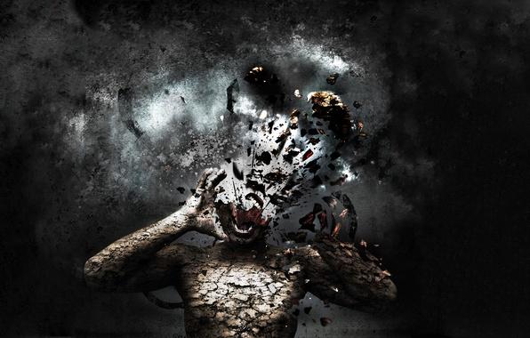 Picture head, destruction, pieces
