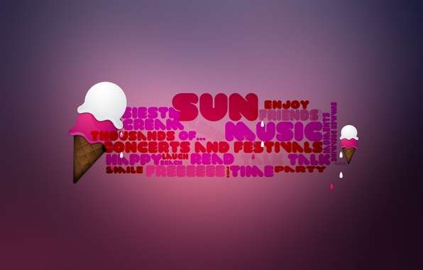 Picture background, pink, the inscription, ice cream