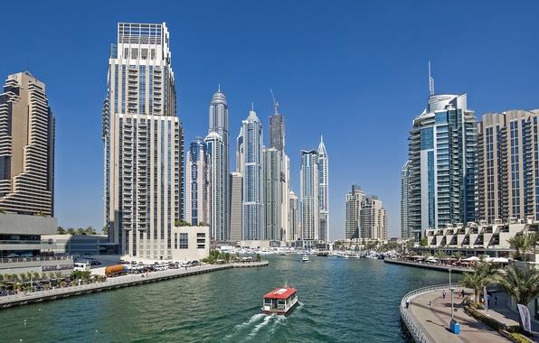 Picture Dubai, skyscrapers, UAE