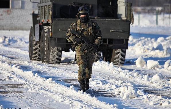 Picture SNOW, SOLDIERS, MIA, URAL, Commando, FIGHTER, RUSSIAN
