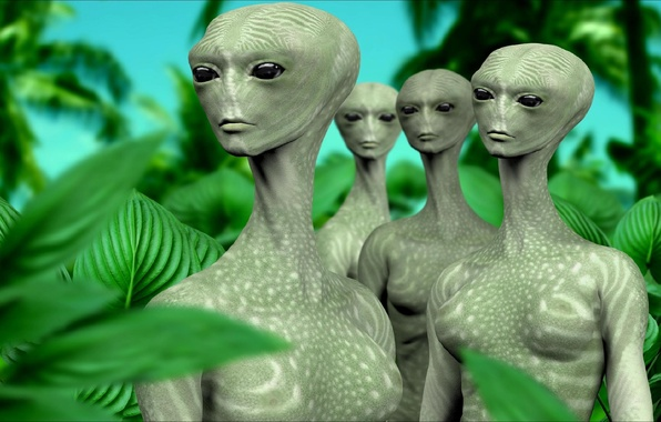 Picture rendering, fiction, art, aliens