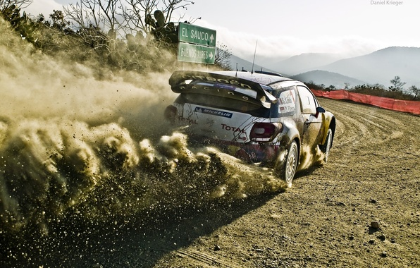 Picture car, dust, dirt, 2012, rally, rally, wrc, citroen, ds3
