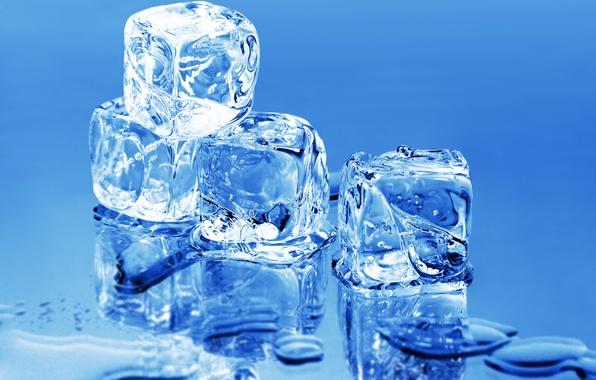 Picture ice, water, macro, minimalism